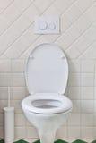 Wit toilet royalty-vrije stock afbeelding