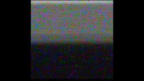 Wit TV-lawaai VHS Video analoge TV van het huissysteem HD Het schermfout stock videobeelden