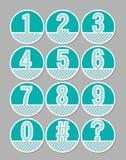 Wit uitgebroed die aantal op een groene achtergrond wordt geplaatst Artistiek aantal in cirkelvormen Infographicelement, nuttig i vector illustratie