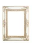 Wit uitstekend frame dat op witte achtergrond wordt geïsoleerde Royalty-vrije Stock Foto