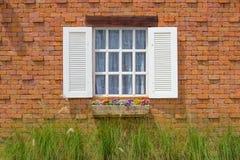 Wit venster Stock Afbeeldingen
