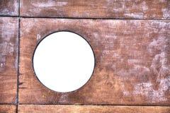 Wit venster in het hout royalty-vrije stock foto's