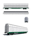 Wit vervoer: Projecties en perspectiefmening Royalty-vrije Stock Afbeeldingen