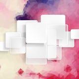Wit Vierkant Element op Strepenachtergrond Royalty-vrije Stock Fotografie