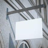 Wit vierkant uithangbord het 3d teruggeven stock afbeelding