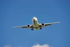 Wit vliegtuig Stock Foto's