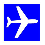 Wit Vliegtuig royalty-vrije illustratie