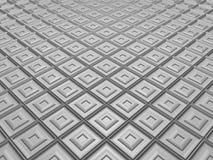 Wit vluchtend mozaïek met verfraaide tegels Stock Afbeelding