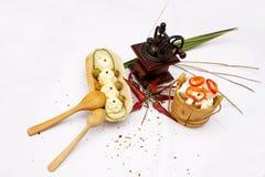 Wit voedsel Stock Afbeeldingen