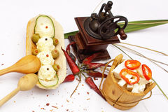 Wit voedsel Royalty-vrije Stock Foto's