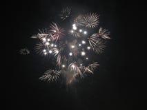 Wit vuurwerk Royalty-vrije Stock Foto
