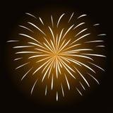 Wit vuurwerk op zwarte achtergrond Royalty-vrije Stock Foto's