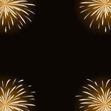 Wit vuurwerk op zwarte achtergrond Royalty-vrije Stock Fotografie