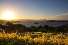 Świt w Hamilton wyspie Fotografia Royalty Free