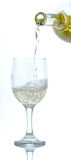 Wit wijnglas Royalty-vrije Stock Afbeeldingen