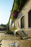 Wit wijnglas Stock Afbeelding