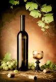Wit wijnstilleven stock foto