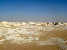 Wit Woestijnlandschap, Egypte, dichtbij Farafra Stock Foto