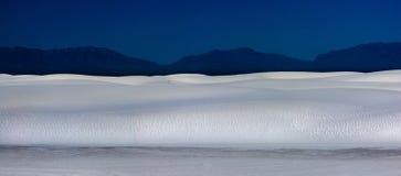 Wit Zand New Mexico bij nacht Stock Foto