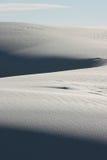 Wit zandduin stock afbeelding