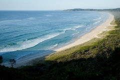 Wit zandig strand Australië Stock Foto