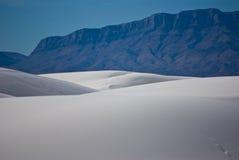 Wit zandlandschap Stock Afbeeldingen