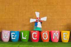 Witać i powitań pojęcie Fotografia Royalty Free