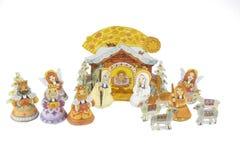 święta bożego narodzenia jezusa sceny ilustracyjny wektora Obrazy Royalty Free
