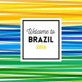 Wita Brazil 2016 plakat lub karciany projekt ilustracji