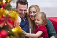 Święta dekoruje drzewa Obrazy Royalty Free