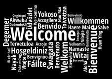 Wita w różnym języka wordcloud wektorze ilustracja wektor