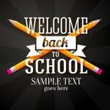 Wita z powrotem szkoły powitanie z dwa krzyżującym ilustracji