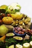 Witamina C w owoc i warzywo Naturalni produkty bogaci w witaminie C fotografia royalty free