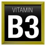 WITAMINY B3 ikona - chemia Zdjęcie Stock