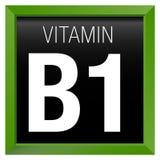 WITAMINY B1 ikona - chemia Obrazy Royalty Free