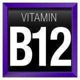 WITAMINY B12 ikona - chemia Zdjęcie Royalty Free