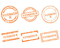 Witaminy K znaczki Zdjęcia Royalty Free