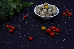 Witaminy sałatka na letnim dniu obrazy stock