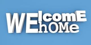 witamy w domu Obraz Royalty Free