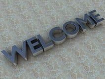 witamy w stałych czyste logo Zdjęcia Stock