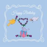 witamy w szczęśliwe urodziny ilustracji