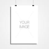 A3/A4 Witboek het hangen vooraan van muur voor uw inhoud royalty-vrije illustratie