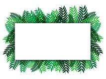 Witboek op groen bladerenontwerp achtergrond vector abstract aard als achtergrond voor zaken royalty-vrije illustratie