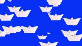 Witboekboten op blauw vector illustratie