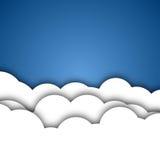 De witte Achtergrond van Wolken Royalty-vrije Stock Foto
