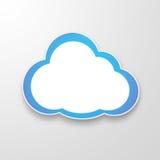 Witboekwolken over gradiënt blauwe achtergrond Royalty-vrije Stock Afbeelding