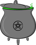 Witch's pot royalty free illustration