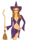 Witch. Stock Photo