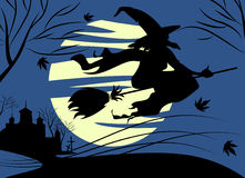 Witch. And halloween concept vector Royalty Free Stock Photos