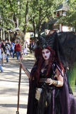 Witch. MISSION, TX – OCTOBER 2009: Women performer working at the Texas Renaissance Festival, known as the largest in the state and taken on October 17, 2009 Stock Photos
